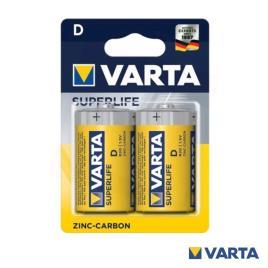 Blister 2 Pilhas D / R20 1,5V - VARTA SUPERLIFE (2020)