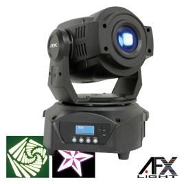 Moving Head Spot 1 Led 60w Branco 3 Rodas Gobo Dmx Afxlight