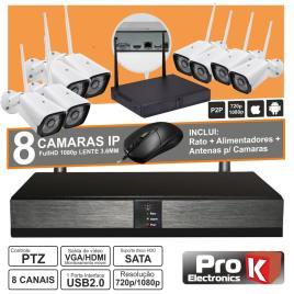 Vídeo-Gravador Digital Ip 8 Canais Wireless Prok