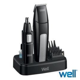 Conjunto Máquina Barbear, Pente e Depilador Nasal WELL