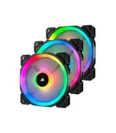 CORSAIR - VENTILADOR CAIXA CORSAIR LL120 RGB 120MM DUAL LIGHT LOOP RGB LED PWM FAN 3 FAN PACK COM LIGHTING NODE PRO CO-9050072-WW