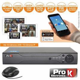 Vídeo-Gravador Digital 16 Canais Analog/Ahd/Ip Ethernet Prok