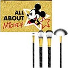 MICKEY MOUSE - Conjunto de Pincéis de Maquilhagem Mickey Mouse Dourado (5 Pcs)