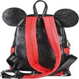 MICKEY MOUSE - Mochila Casual Mickey Mouse 72818 Preto Vermelho Amarelo