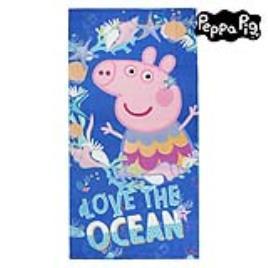 PEPPA PIG - Toalha de Praia Peppa Pig 75502 Microfibra Azul marinho