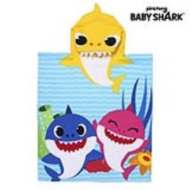 BABY SHARK - Poncho-Toalha com Capuz Baby Shark Amarelo (50 x 115 cm)