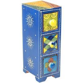 Signes Grimalt  Malas, carrinhos de Arrumação Especiero Três Gavetas  Azul Disponível em tamanho para senhora. Único.Casa >Malas, carrinhos de Arrumação
