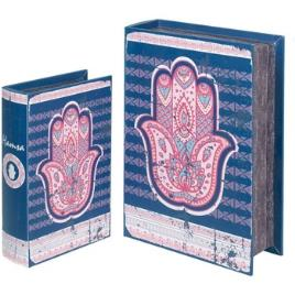 Signes Grimalt  Malas, carrinhos de Arrumação Fátima 2U Caixas Livro De Mão  Azul Disponível em tamanho para senhora. Único.Casa >Malas, carrinhos de Arrumação