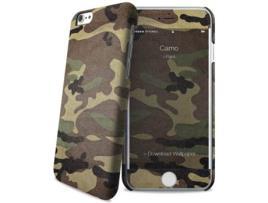 Capa iPhone 6, 6s, 7, 8 I-PAINT Camo Castanho