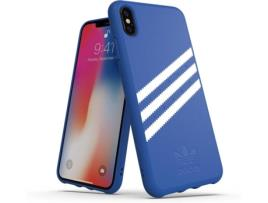 ADIDAS - Capa iPhone XS Max ADIDAS Moulded Suede Azul