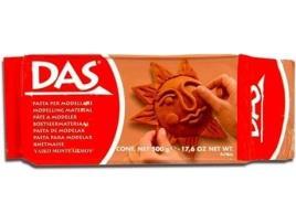 DAS - Pasta p/ Modelar Das 500 Gr Castanho