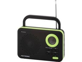 Rádio METRONIC 477209 (Preto / Verde - Digital - AM/FM - Pilhas)