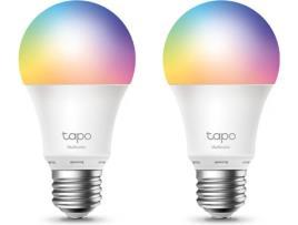 TP-LINK Lâmpada Inteligente Smart Wi-Fi Tapo L530E da TP-Link, Pack 2 Unidades