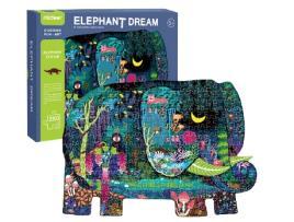 MEGA - Puzzle MEGA Elefante (Idade mínima: 5 anos - 280 peças)
