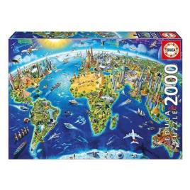 JOGOS E BRINQUEDOS KIDS - Puzzle Símbolos do Mundo - 2000 Peças - Educa