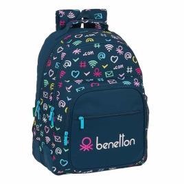 Benetton - Mochila Escolar Dupla 42cm adap trolley Benetton Dot Com