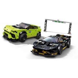 LEGO Speed Champions: Lamborghini Urus ST-X & Lamborghini Huracán Super Trofeo EVO - 76899 (Idade mínima: 8 - 663 Peças)
