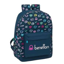 Benetton - Mochila Escolar 43 cm adap trolley Benetton Dot Com