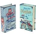 Signes Grimalt  Malas, carrinhos de Arrumação Box Car Livro E Moto 2U  Multicolor Disponível em tamanho para senhora. Único.Casa >Malas, carrinhos de Arrumação