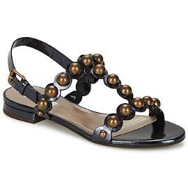 MARC JACOBS - Marc Jacobs  Sandálias Vegetal  Preto Disponível em tamanho para senhora. 36,37.Mulher > Calçasdos > Sandálias e rasteirinhas