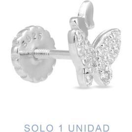 Luxenter  Brincos Piercing  Lanin De Plata De Ley 925  Branco Disponível em tamanho para senhora. Único.Mulher > Bijuterias > Brincos