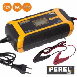 PEREL - Carregador de Baterias Chumbo 12V 8A IP65 - PEREL