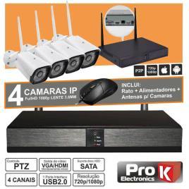 Vídeo-Gravador Digital Ip 4 Canais Wireless Prok