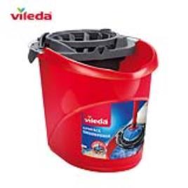 VILEDA - vileda Balde e Espremedor Superfácil, 10 L, Vermelho e Cinzento