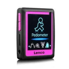 LENCO - Pedómetro + MP3 PODO 152 4GB 1,8 (Rosa) - LENCO