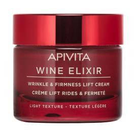 Creme Antirrugas e Refirmante com Efeito Lifting Vinho Elixir Light Apivita Textura 50ml