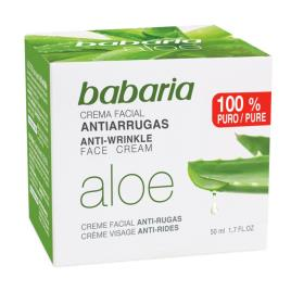 Babaria antirugas Creme facial Aloe Vera 50 ml