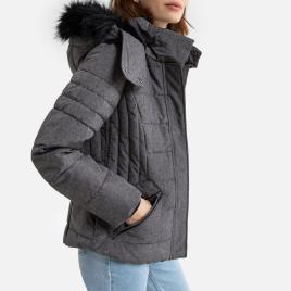 Esprit - Esprit Blusão curto com capuz, especial frio