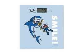 JATA - Balança WC Base em Vidro Máx 150kg Azul