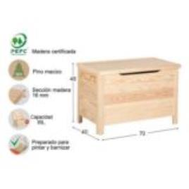 Baú de madeira BASIC 48X70X40CM