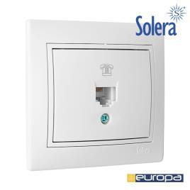 SOLERA - TOMADA DE TELEFONE RJ11 DE EMBUTIR 83X81MM  S.EUROPA SOLERA