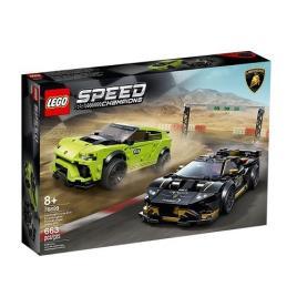 LEGO - LEGO Speed Champions: Lamborghini Urus ST-X & Lamborghini Huracán Super Trofeo EVO - 76899 (Idade mínima: 8 - 663 Peças)