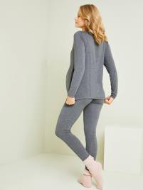 VERTBAUDET - Conjunto homewear de 2 peças, especial gravidez e amamentação cinzento escuro mesclado